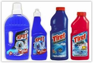 Очистка канализационных труб различными средствами и приборами в домашних условиях